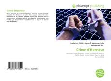 Bookcover of Crime d'Honneur