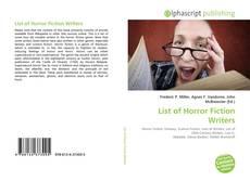 Portada del libro de List of Horror Fiction Writers