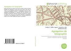 Bookcover of Agrégation de Géographie