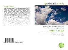 Bookcover of Fokker F.XXXVI