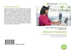 Обложка Behavioral Geography