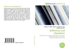 Bookcover of Difference and Repetition