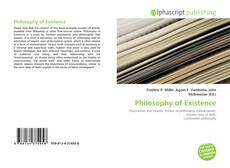 Bookcover of Philosophy of Existence