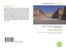Bookcover of Morarji Desai