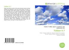 Bookcover of Fokker V.7