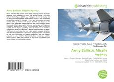 Bookcover of Army Ballistic Missile Agency