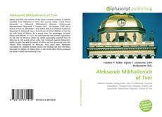 Buchcover von Aleksandr Mikhailovich of Tver
