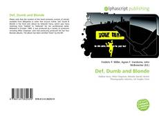 Bookcover of Def, Dumb and Blonde