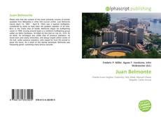 Copertina di Juan Belmonte