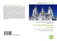 Capa do livro de List of Grand Duchesses of Russia