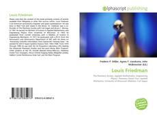 Bookcover of Louis Friedman