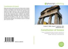 Bookcover of Constitution of Greece