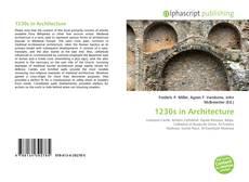 Обложка 1230s in Architecture