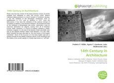 Portada del libro de 14th Century in Architecture