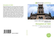 Bookcover of Disruption of 1843