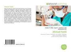 Bookcover of Ahmad Teebi