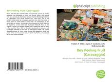 Bookcover of Boy Peeling Fruit (Caravaggio)