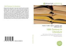 Bookcover of 16th Century in Literature