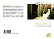 Bookcover of Ekrima Sa'id Sabri