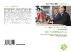 Bookcover of Baker Abdel Munem