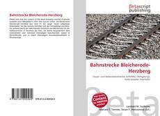 Buchcover von Bahnstrecke Bleicherode-Herzberg