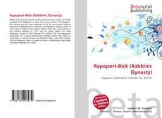 Bookcover of Rapoport-Bick (Rabbinic Dynasty)