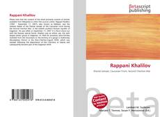 Bookcover of Rappani Khalilov