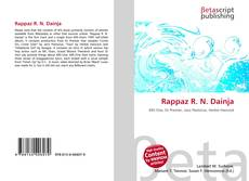 Bookcover of Rappaz R. N. Dainja