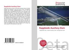 Bookcover of Rappbode Auxiliary Dam