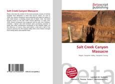 Couverture de Salt Creek Canyon Massacre