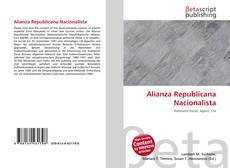 Buchcover von Alianza Republicana Nacionalista