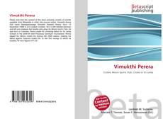 Bookcover of Vimukthi Perera