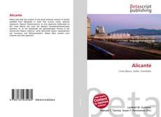 Bookcover of Alicante