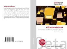 Bookcover of Alice Bensheimer