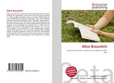 Copertina di Alice Braunlich