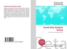 Bookcover of South Asia Analysis Group