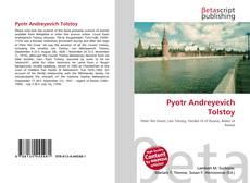 Portada del libro de Pyotr Andreyevich Tolstoy