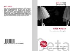 Bookcover of Alice Kaluza