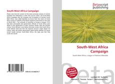 Bookcover of South-West Africa Campaign