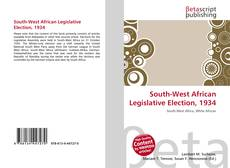 Bookcover of South-West African Legislative Election, 1934