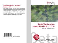 Bookcover of South-West African Legislative Election, 1974