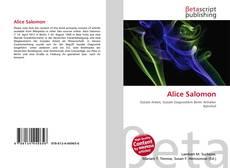 Bookcover of Alice Salomon