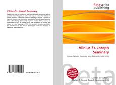 Bookcover of Vilnius St. Joseph Seminary