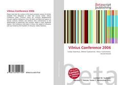 Copertina di Vilnius Conference 2006