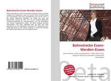 Bookcover of Bahnstrecke Essen-Werden–Essen