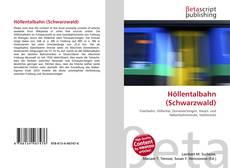 Bookcover of Höllentalbahn (Schwarzwald)