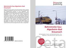 Bookcover of Bahnstrecke Gau-Algesheim–Bad Kreuznach