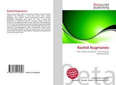 Capa do livro de Rashid Nugmanov