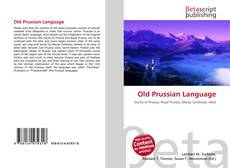 Couverture de Old Prussian Language