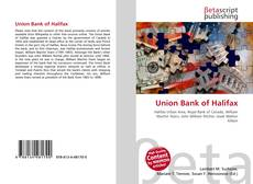 Bookcover of Union Bank of Halifax